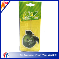 smile apple shape wholesale air freshener car hanging on the mirror, best price hotel air freshener bands
