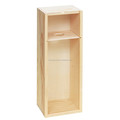 Unfinished pine wood single bottle wine box for sale
