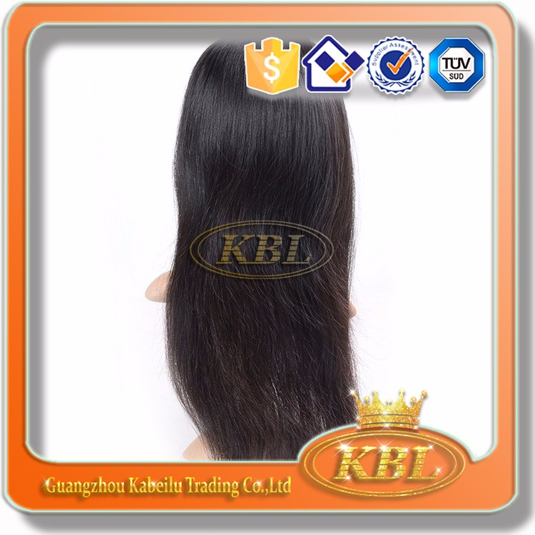 Good quality hair wigs for men human hand tied soft