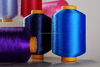 2014 Cheap china polyester good quantity textured sewing thread with solid color