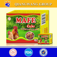 10g*100*12 NEW PACKING HALAL CHICKEN SEASONING CUBE CHICKEN POULET BOUILLON CUBE CHICKEN SOUP CUBE