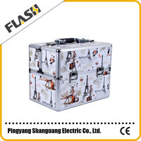 Wholesale Hard Frame Beauty Aluminium Brand Leather Jewelry Box