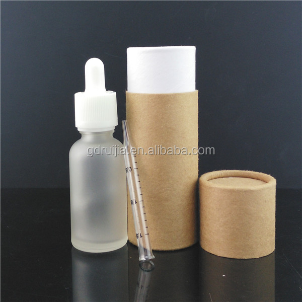 Sales Promotion! 30ml Clear Frost Glass Dropper Bottle with Paper box for E-liquid E-juice