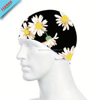 Durable Floral Custom Silicon Swim Cap