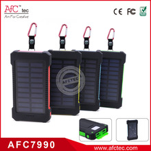Outdoor waterproof Emergency Logo Customized 8000mAh usb portable solar powerbank charger