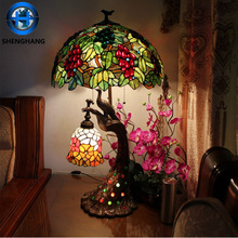 Tiffany animal lamp stained glass lampshade and small order table lamp