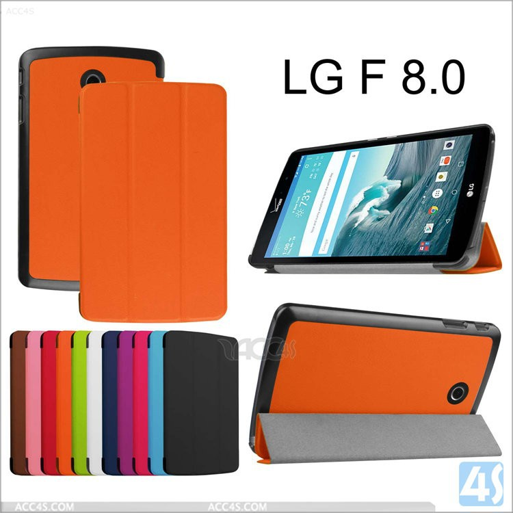 New hot products wholesale stylus hold stand leather case cover for LG G PAD F8.0