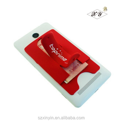 Custom silk print silicone mobile holder stand for smartphone