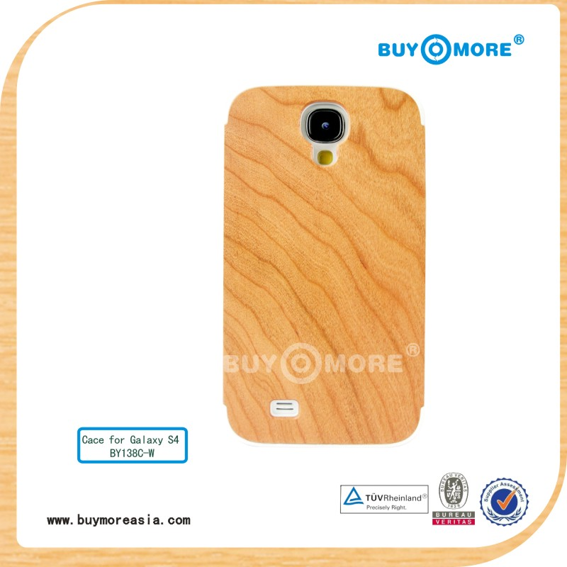 2014 wooden strong protective case for Samsung Galaxy s4 case