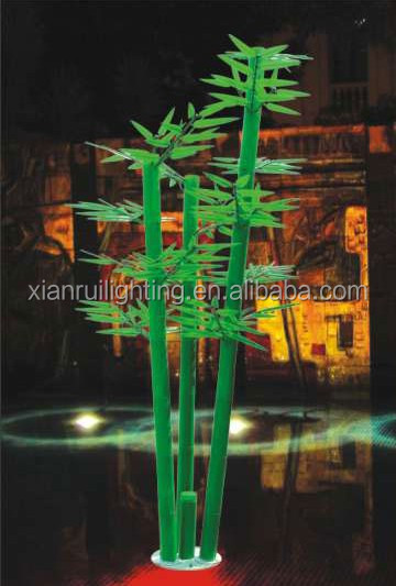 led outdoor bamboo tree light led light flower pot