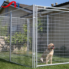 Large outdoor modular dog kennel, iron fence dog kennel fence panel