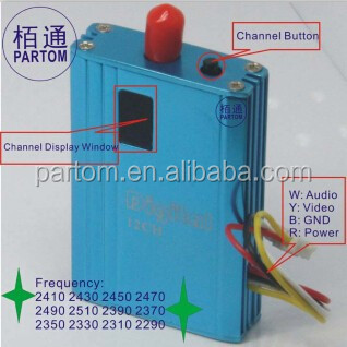partom 2.4G 700mW transmitter and receiver professional for fpv video