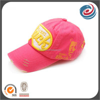 lady fashion broken washed casual baseball hat