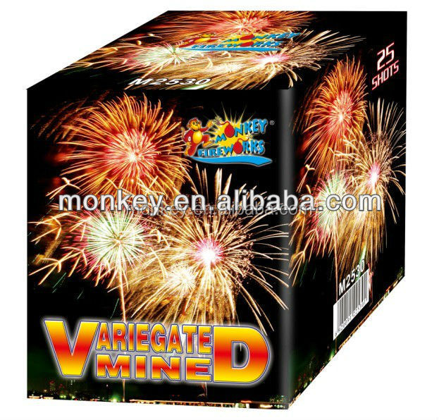 25 shots salutes consumer fireworks cake for sale