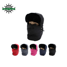 Wholesale winter outdoor warm balaclava ski hat with ear flaps