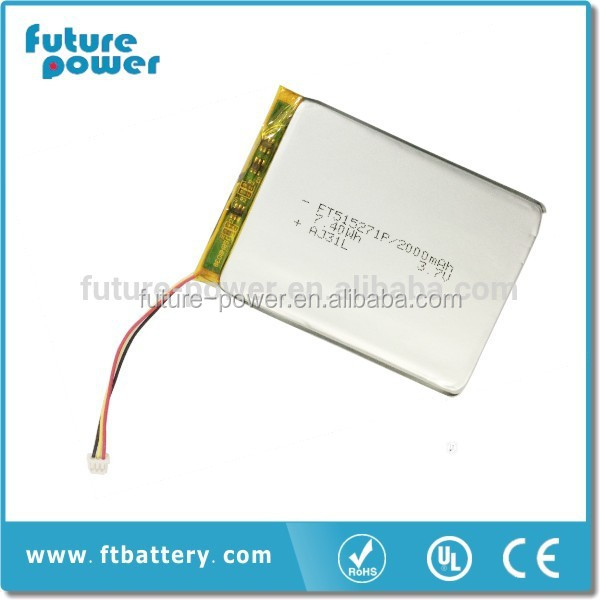 supplier price/ wholesale price/ polymer lithium ion 2000mah rechargeable 3.7v medical battery for medical devices