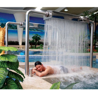 swimming pool spa impact stainless steel shower