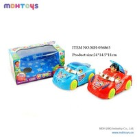 B/O Toy Universal Cartoon Car ,Electric Car For Kids With Music And Light