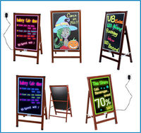 Outdoor advertising illuminated pavement sign acrylic neon signs with marker pens