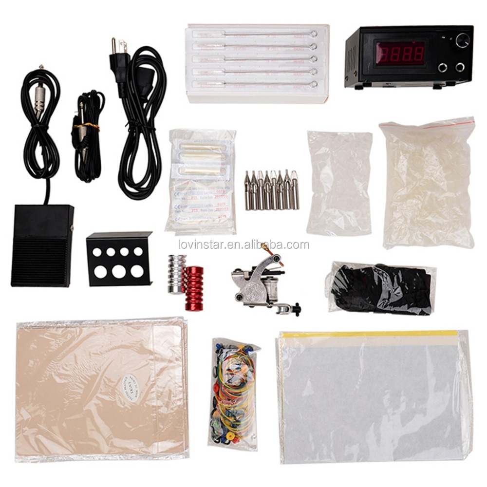 hot sale Professional Tattoo Machine Power Supply Gift Kit Accessories T01 permanent makeup kit