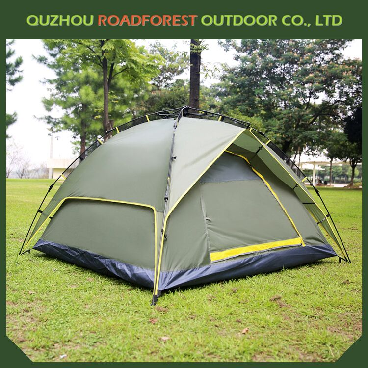 printed Customized waterproof aluminum pole camping tent
