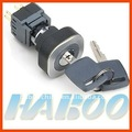 HBC16/22 series electrical key switch ultrathin positions push button switch momentary / latching