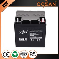 First class quality beautiful featured 12V 24ah solar power storage battery