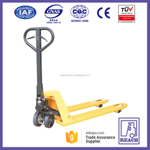 Alibaba high efficiency heavy duty hand pallet truck with brake