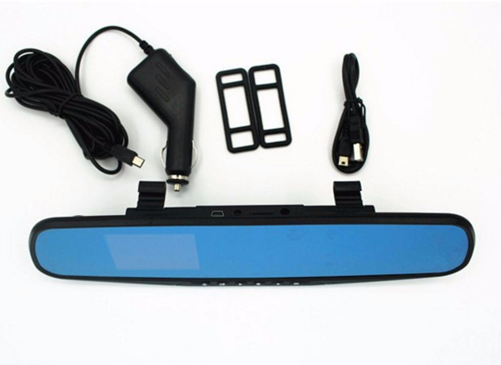 hd hidden camera on car rearview mirror with. Black Bedroom Furniture Sets. Home Design Ideas
