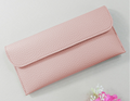 Soft leather ultra-thin students money folder lychee pattern fashion buckle wallet