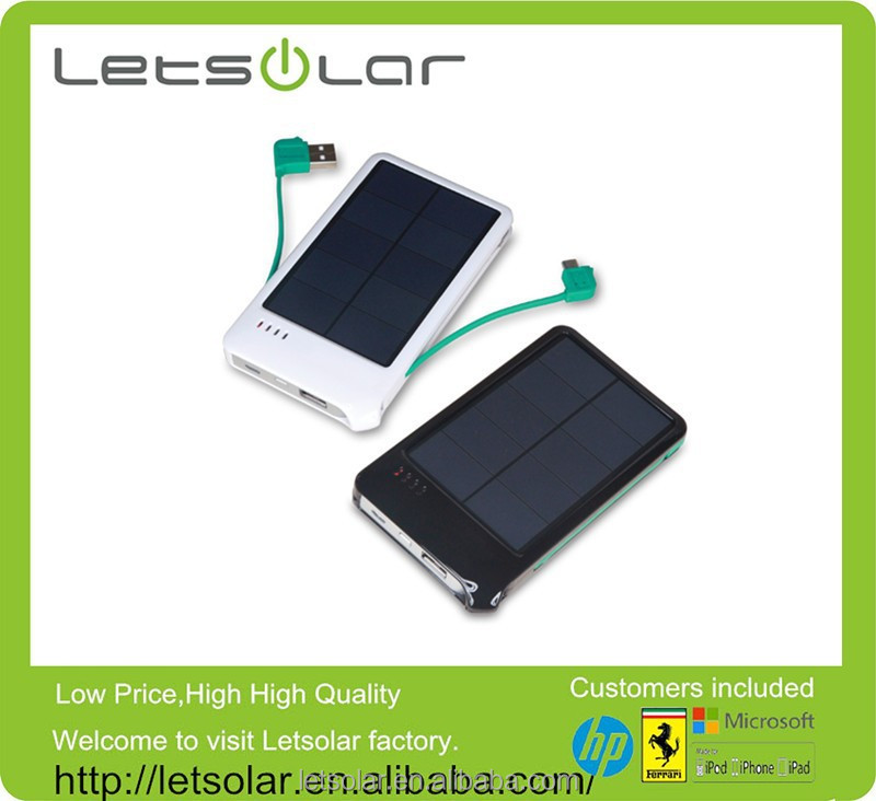 China manufacturer new product 4000mAh power bank cheap solar mobile phone charger for iPhone/iPad all series