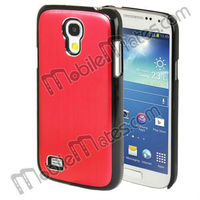 High Quality Brushed Metal Coated Protective PC Hard Case for Samsung Galaxy S4 Mini i9190