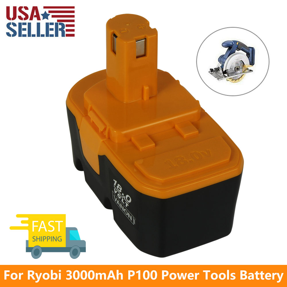 18V 3.0Ah NiCD <strong>Battery</strong> for Ryobi One Plus P108 P104 P105 P102 P101 <strong>P100</strong> 130224028 130255004 Power Tool <strong>Battery</strong>