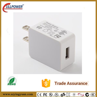 UL certificated 5V 2.4A single usb AC adapter