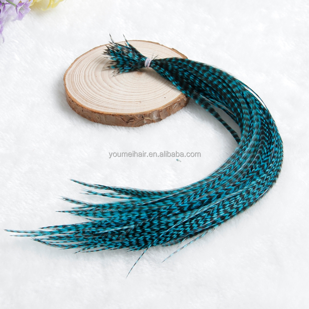 Wholesale Animal Feather Hair Extension Colorful Clip in Hair Extension