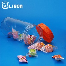 1080ml Large Size Smell Free Plastic Transparent Container Jars With Colored Lids
