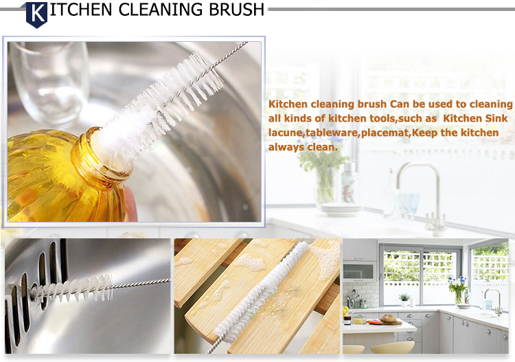 Wholesale Nylon Bottle Cleaning Brush Water Bottle Brush Cleaner