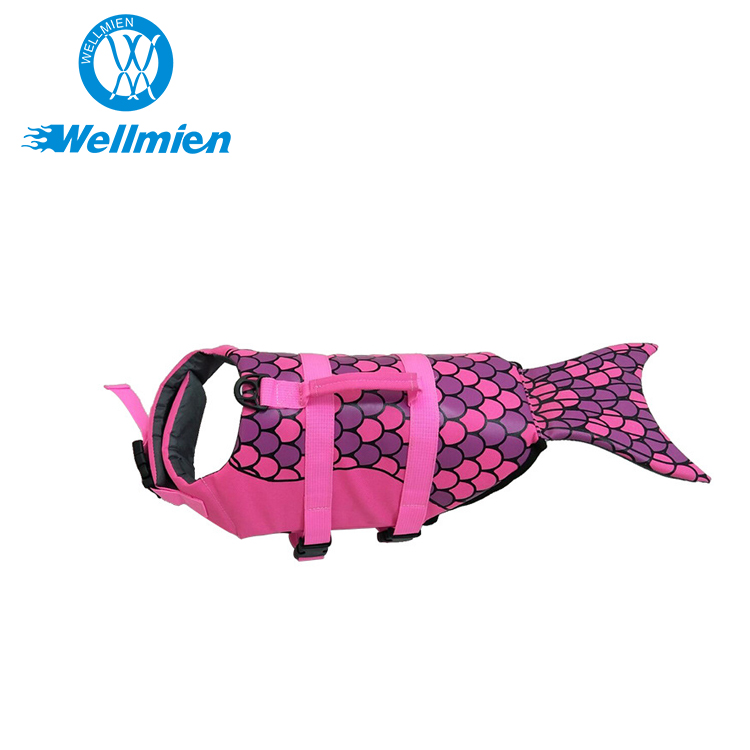 Eco-Friendly Oxford And High-Density Pearl Cotton Mermaid Custom Pet Life Jacket/Dog Life Jacket