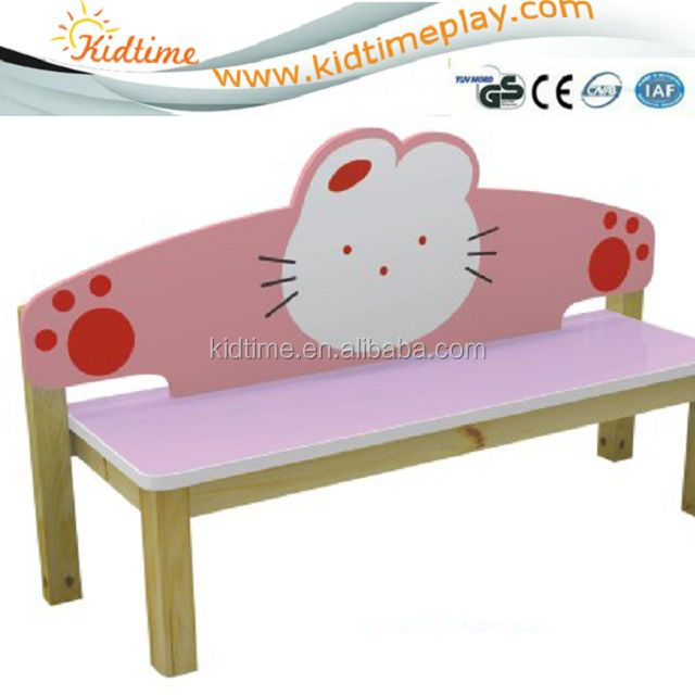kid indoor wooden cartoon bench