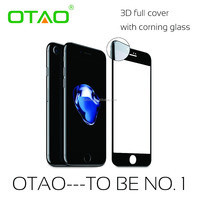 2016 new premium 0.33mm 3D full cover best tempered glass screen protector for iphone 7