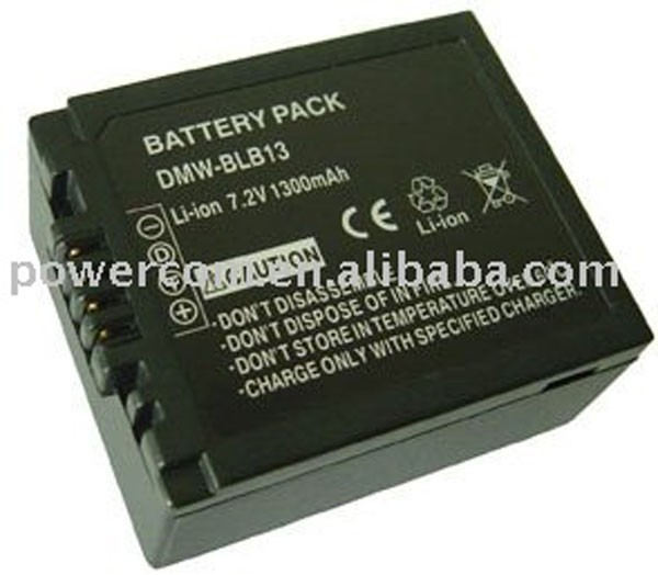 For camera battery DMW-BLB fit cameras model: Lumix DMC-G1 series