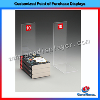 New customized high quality desktop clear acrylic book display stand