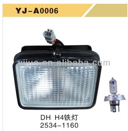 Daewoo DH H4 2534-1160 Replaceable Iron square Lamp for excavator china supplier good quality