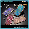New Design Luxury Electroplating Bumper Set auger Crystal Sunflower Cellphone Case For iPhone 6Plus