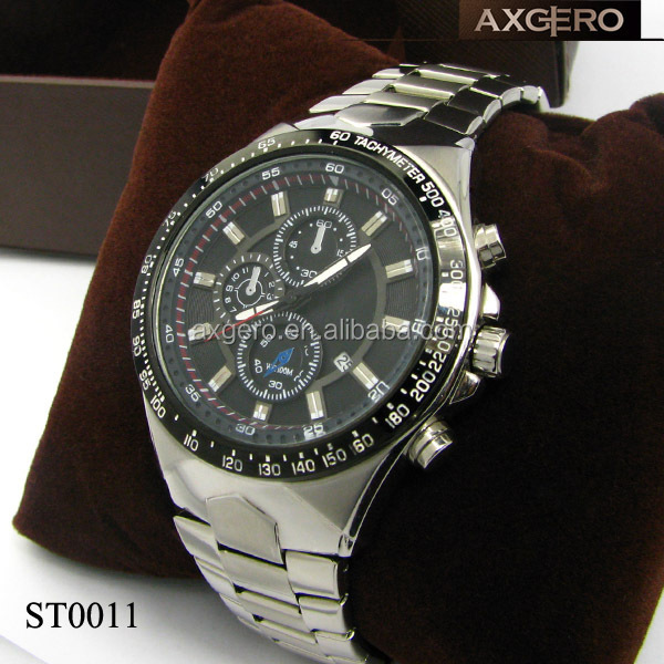 2015 Superior quality Men sport stainless steel quartz watch