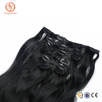 2017 top quality afro kinky curly clip in hair extensions wholesale clip in human hair extension for black women