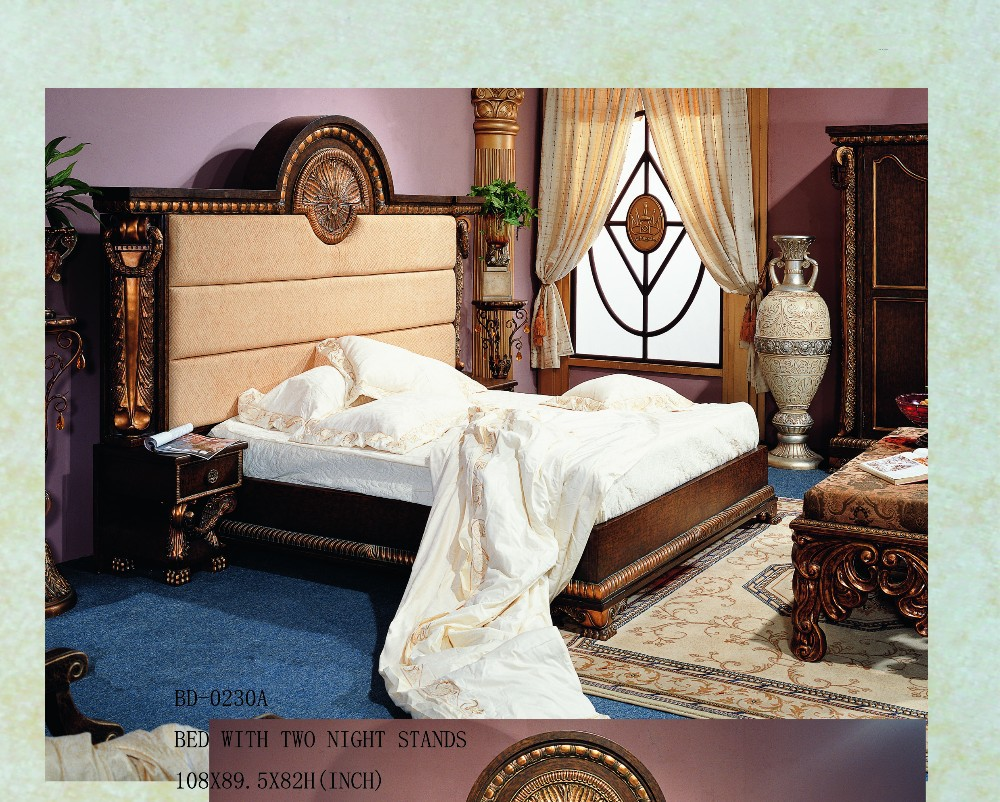 european style bedroom furniture set/luxury leather bedroom set/pictures of bedroom sets
