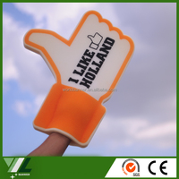 Custom printing cheering wave foam finger big hand