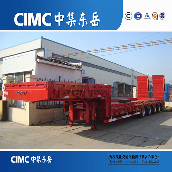 40ft dimensions tri-axle low bed truck trailer CIMC