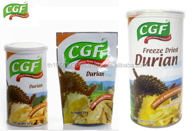Freeze Dried Durian Monthong Thailand for Retail